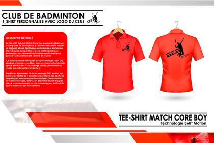 T SHIRT PERSONNALISE - CLUB BADMINTON