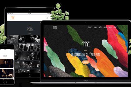 Site du groupe de musique FAKE