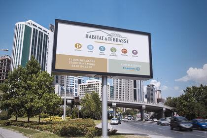 Panneau publicitaire Habitat & Terrasse