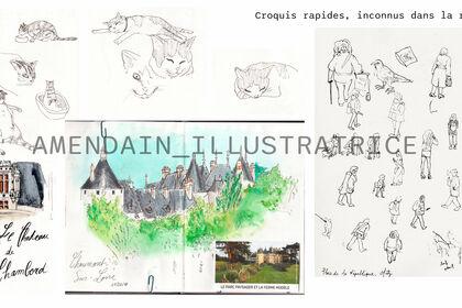 Croquis, dessins d'observation