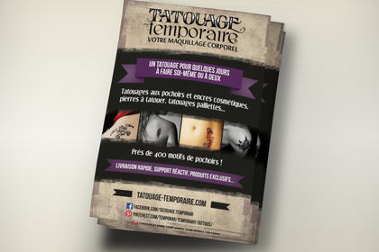 Flyer Tatouage Temporaire