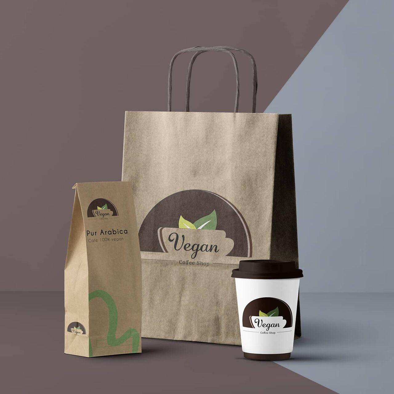 Packaging Vegan Coffee Shop