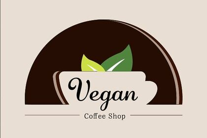 Logo vegan coffee shop