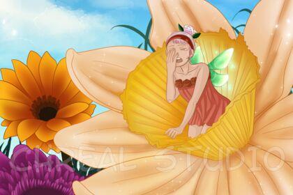 Sleepy flower [Illustration #2]