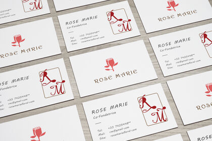 "Carte de visite ""Rose Marie"""
