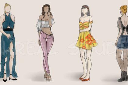 Série vêtements croquis #1