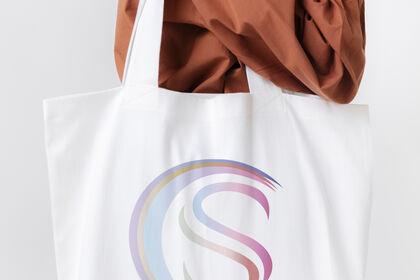Design d'un logo sur sac en cotton