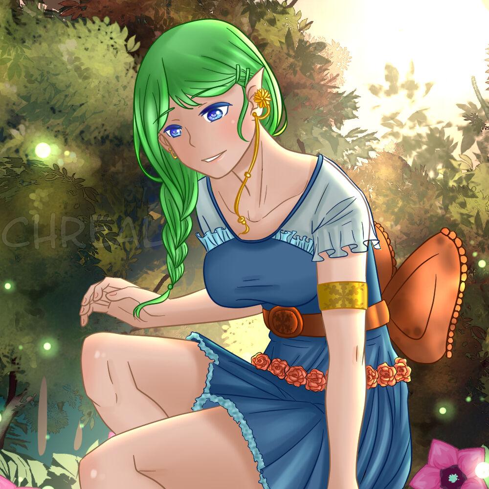 Ilustration princesse fée