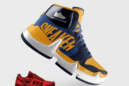 "Logo 'Chope ta sneaker"""
