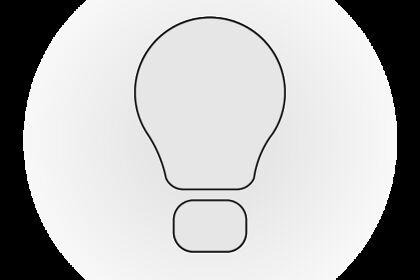 """Icône """"Idée / Ampoule / Lumière"""""""