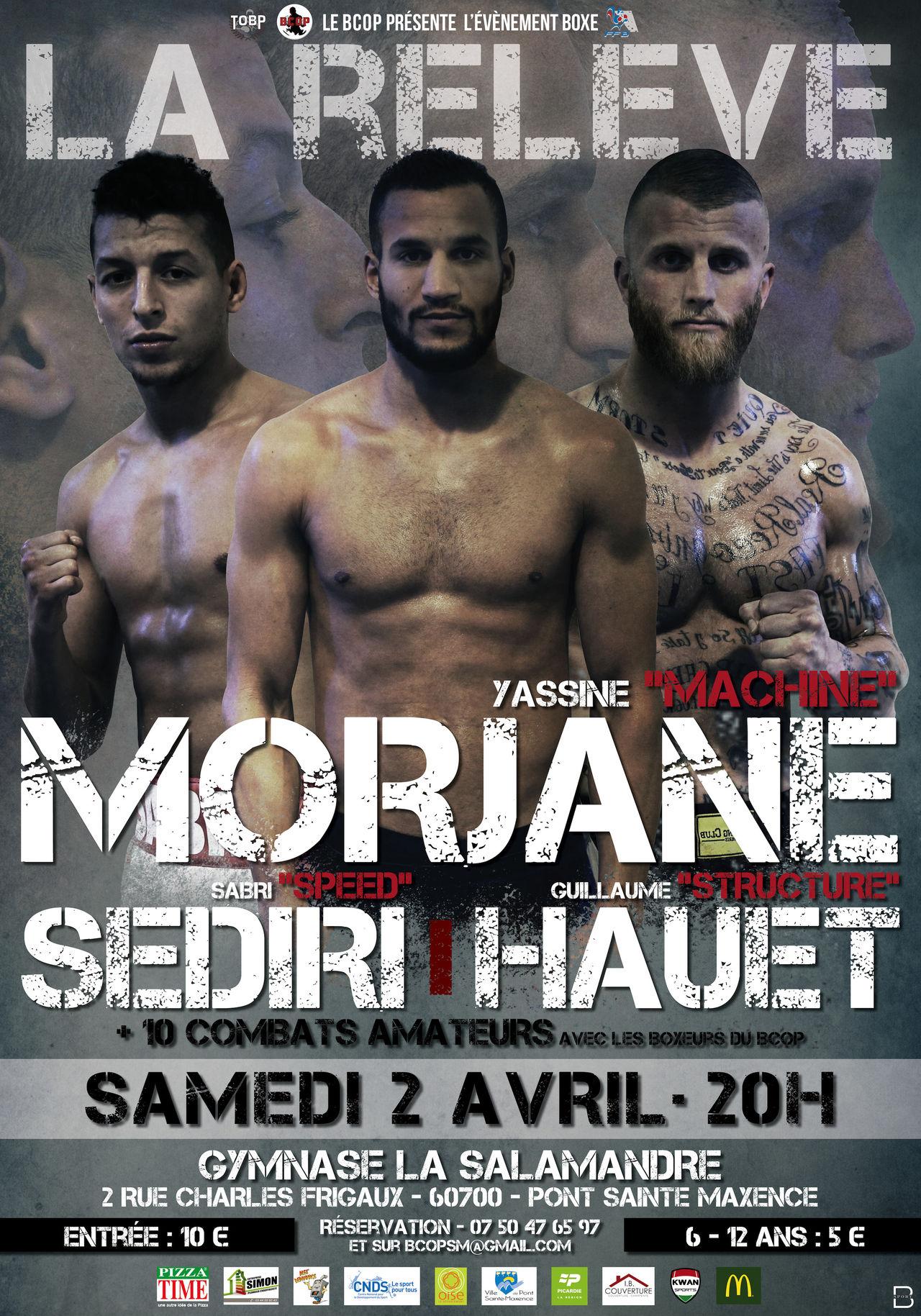Affiche : annonces soirées de boxe