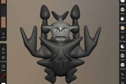 Modélisation crabe personnage