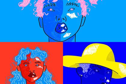 """Série d'illustrations """"Les filles Solaires"""""""