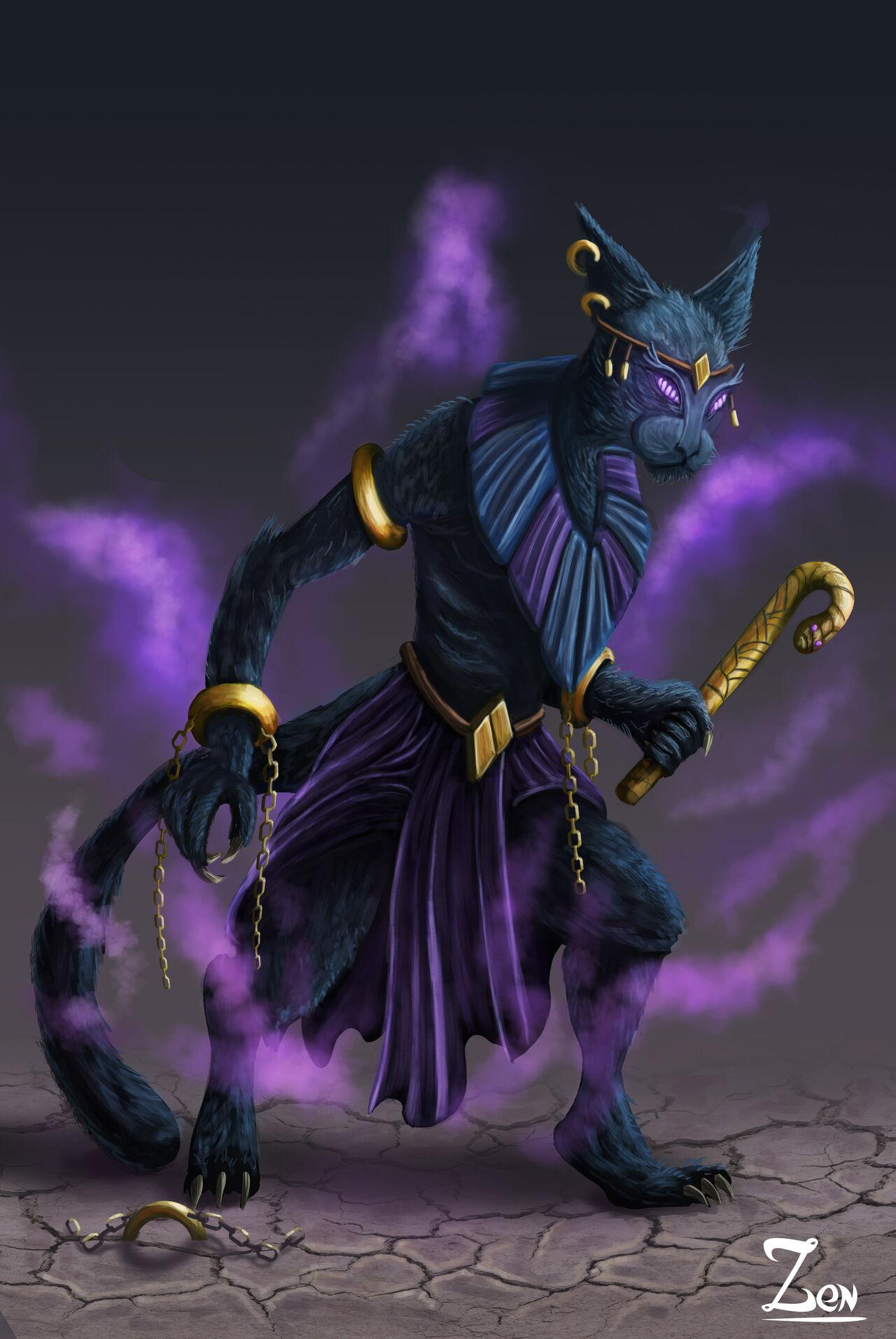 Cat-aclysme le dieu Chat Egyptien