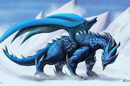 Dragon de glace illustration digital