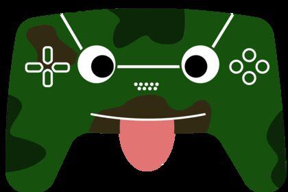 Émoticône de manette PS5 version Militaire Fun