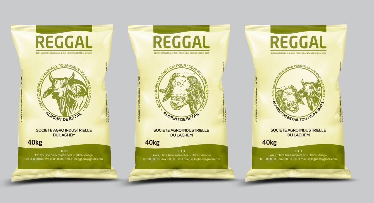Packaging Conception de sac d'aliment de bétail