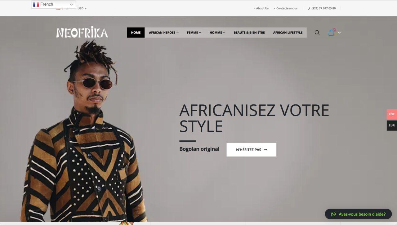 Site web de Neofrika