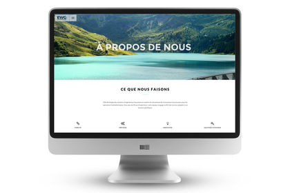 Direction Artistique et Design du site web EWG