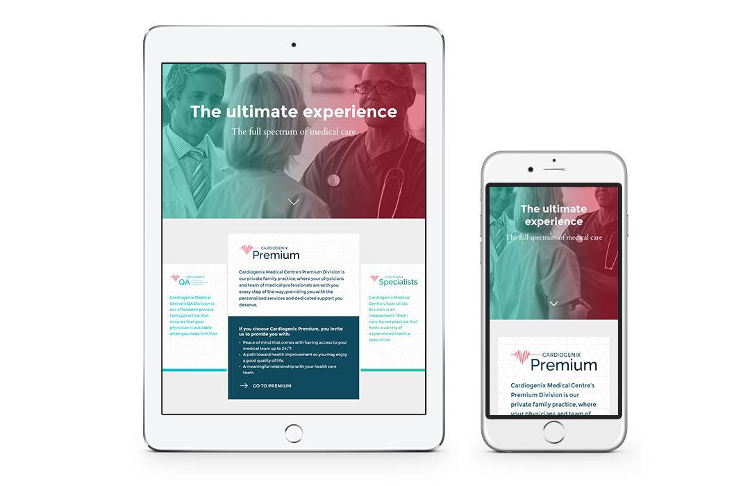 Direction Artistique et webdesign pour CardioGenix