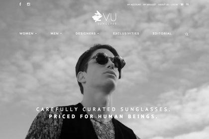 Design Web pour VuSunglass