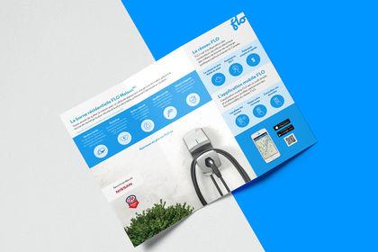 Graphisme de brochures pour flo.ca