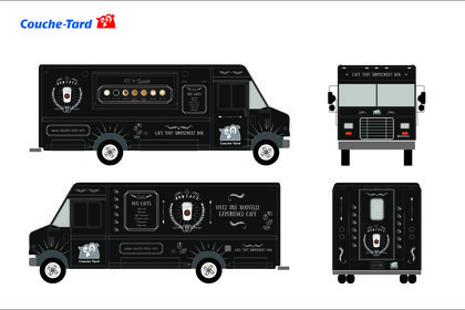 Habillage de Food Truck pour Cafe Couche Tard
