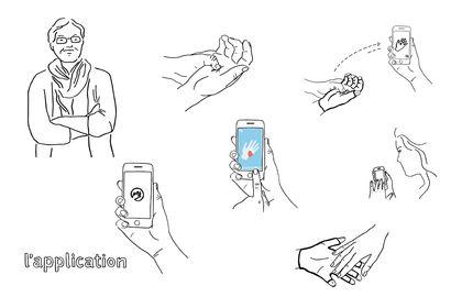 Illustrations pour présentation d'une application