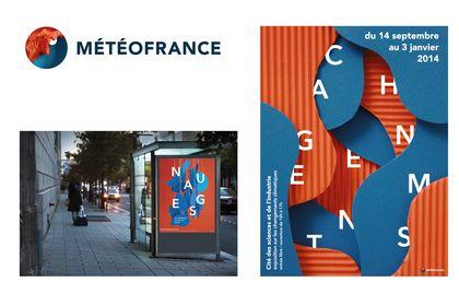 Logo et affiches pour Météo France