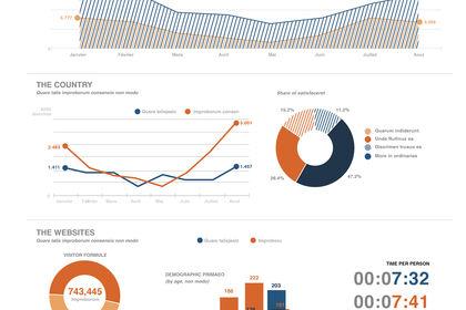 Infographie - graphique data élément
