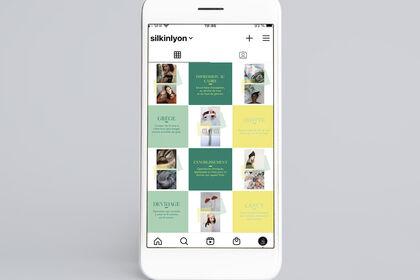 Graphisme - Visuels digitaux pour Silk in Lyon