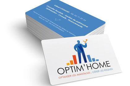 Logo / papeterie optim'home