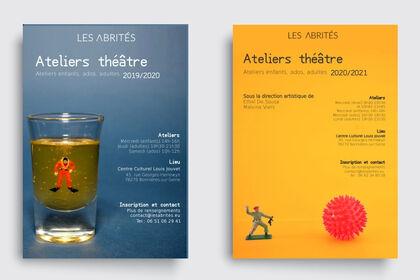 Flyers Ateliers Théâtre Les Abrités