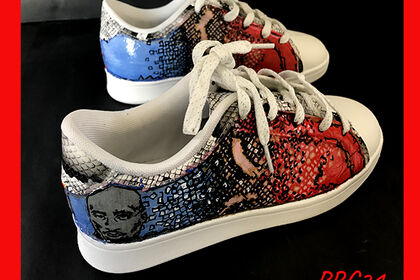 Customisation Sneakers 2pac