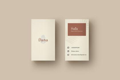 Carte de visite Dana Dattes
