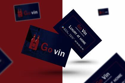 Carte de visite de livraison de vin