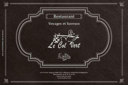 Carte Restaurant : Le Col Vert