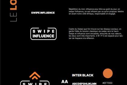 Création charte graphique pour swipe influence