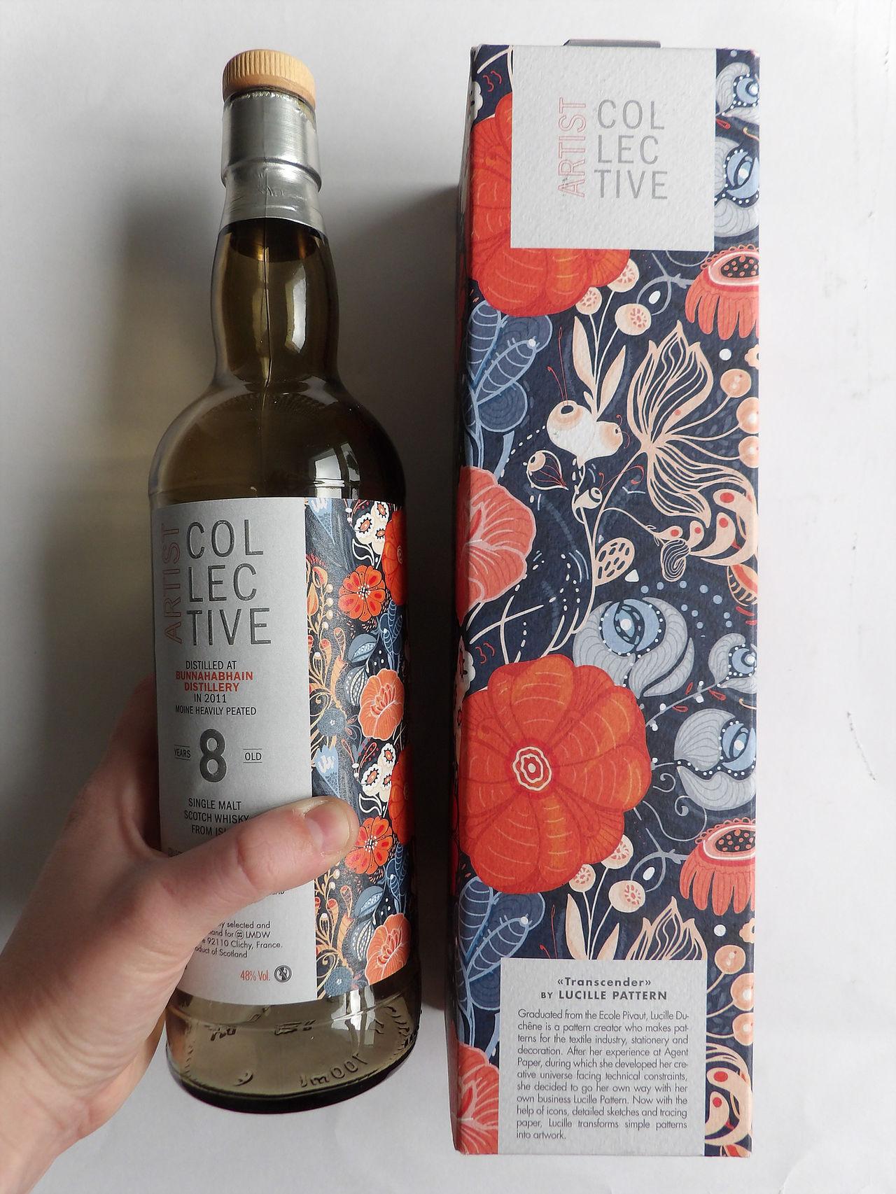 Motif pour bouteille de Whisky