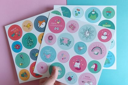 Cartes stickers - Agent paper -