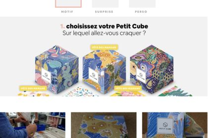 Motifs pour cube 3D papier - PETIT CUBE -
