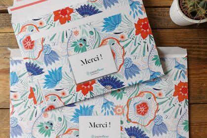 Motif enveloppes - PAPIER FLEUR