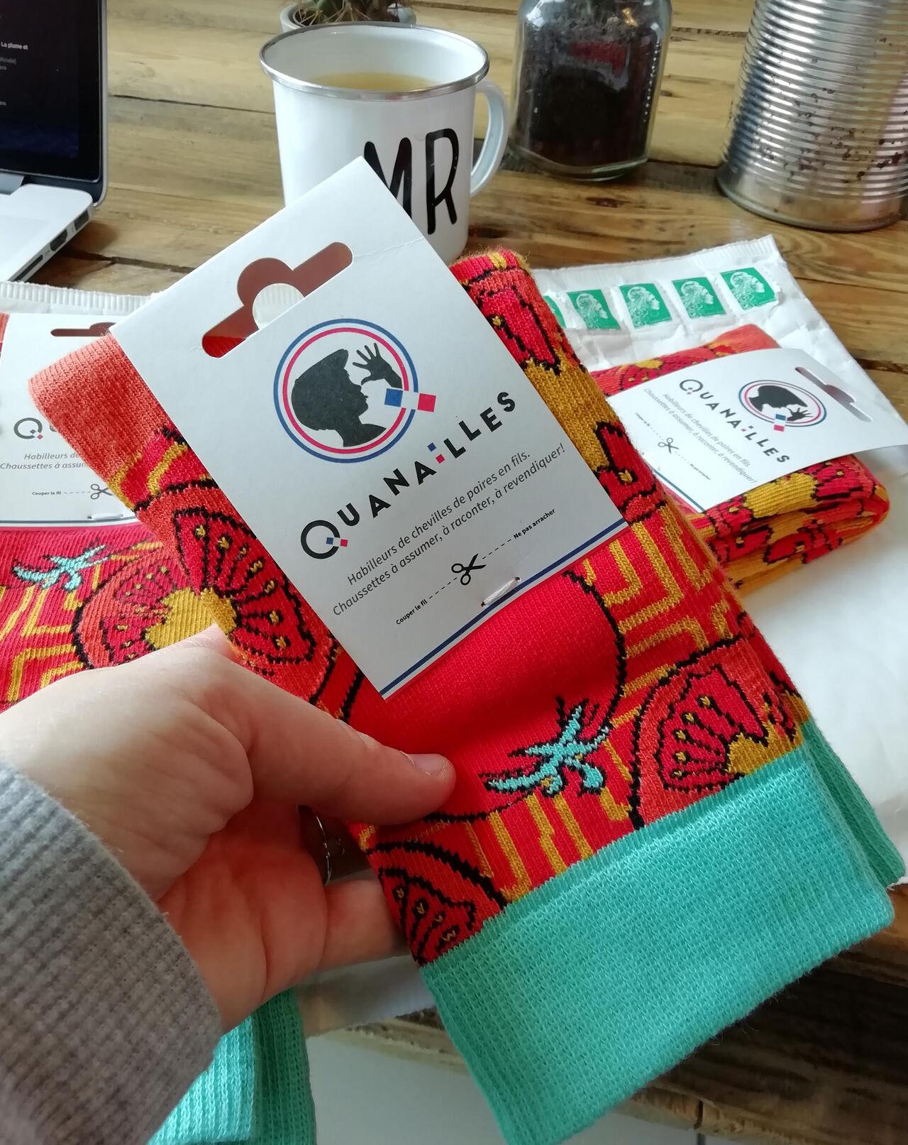 Motif pour chaussettes - QUANAILLES -