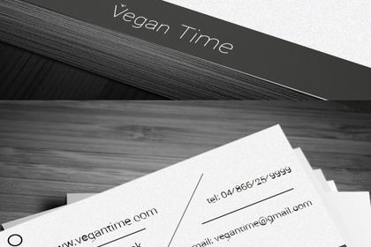 VEGAN Time logo business card