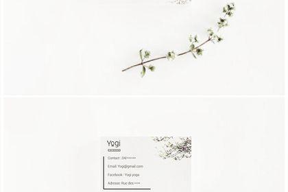 Centre de yoga carte de visite