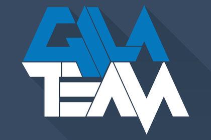 "Logo typographique ""GilaTeam"""