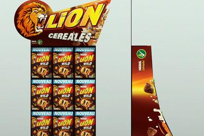 Invention d'un publicité sur lieu de vente | Lion