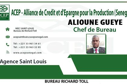 Carte de accès de la Banque Acep