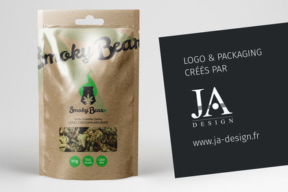 Création du logo Smoky Bear & Packaging