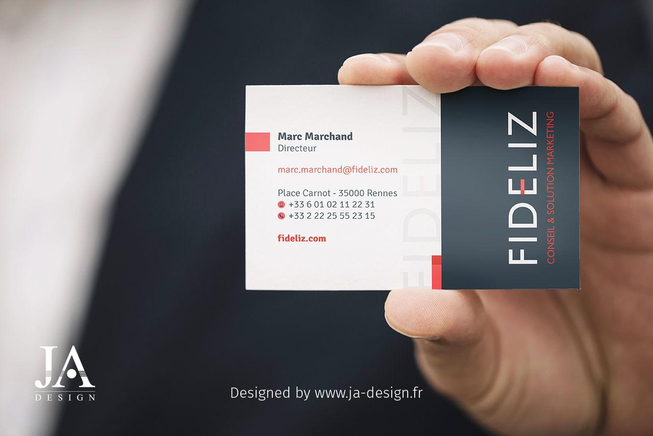 Logo et carte de visite FIDELIZ